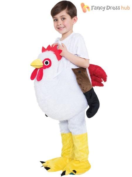 Childs Step In Ride On Costume Boy Girl Chicken Croc Dragon Fancy
