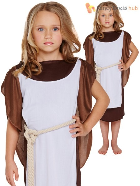 Kids Fancy Dress Party Medieval Warrior Viking Girl's Book Week