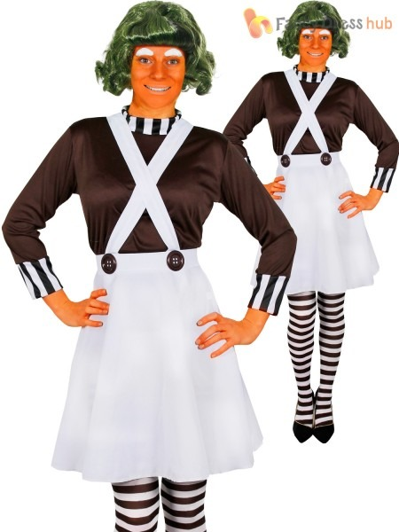 Ladies Oompa Loompa Costume Adults Charlie And The Chocolate