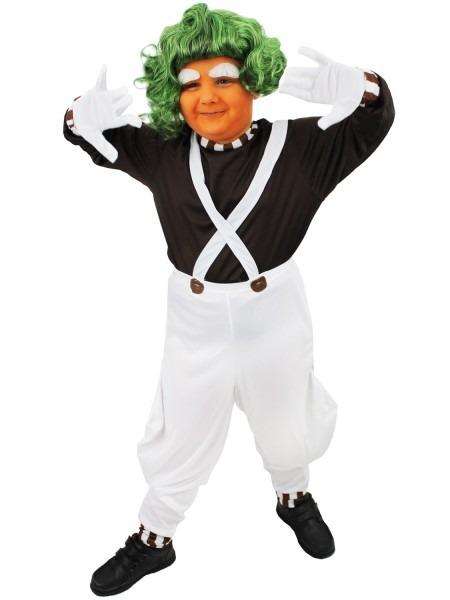 Childrens Oompa Loompa Costume Boys Girls Charlie Chocolate