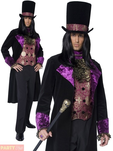 Adult Gothic Count Countess Nocturna Halloween Costume Mens Ladies