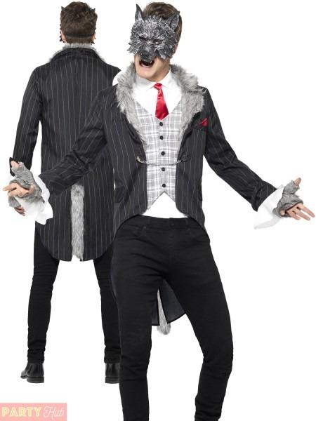 Mens Deluxe Big Bad Wolf Costume Werewolf Fairytale Halloween