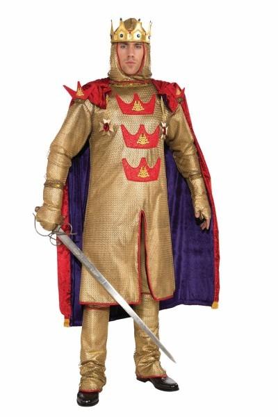 Adult King Arthur Men Designer Deluxe Costume