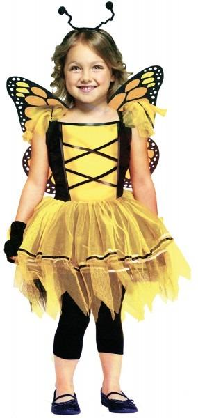 Toddler Girls Ballerina Butterfly Gold Fairy Costume Fairytale