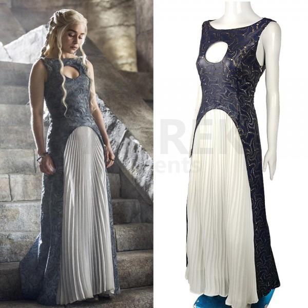 Game Of Thrones Cosplay Daenerys Targaryen Qarth Costumes Party Dress