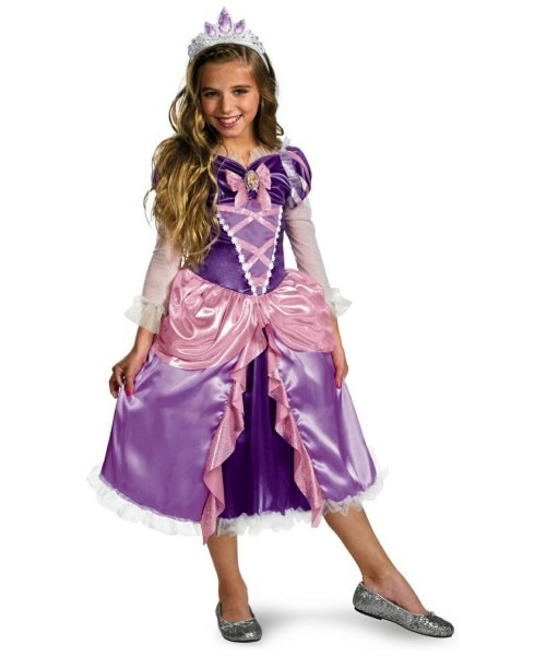 Tangled Rapunzel Girl Disney Princess Costume
