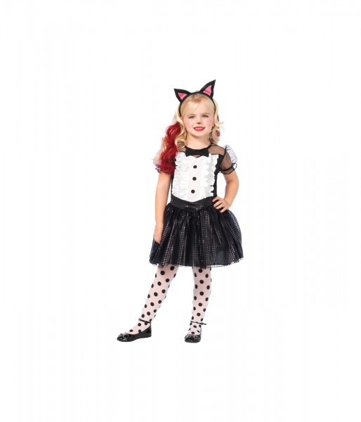 Tuxedo Kitty Cat Girls Costume