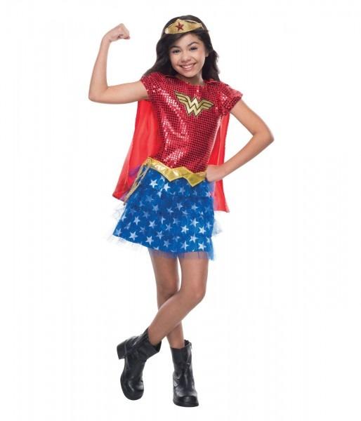 Wonder Woman Sequin Girls Costume