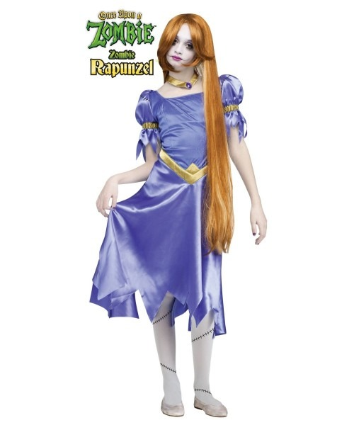 Once Upon A Zombie Rapunzel Girls  Teen Costume