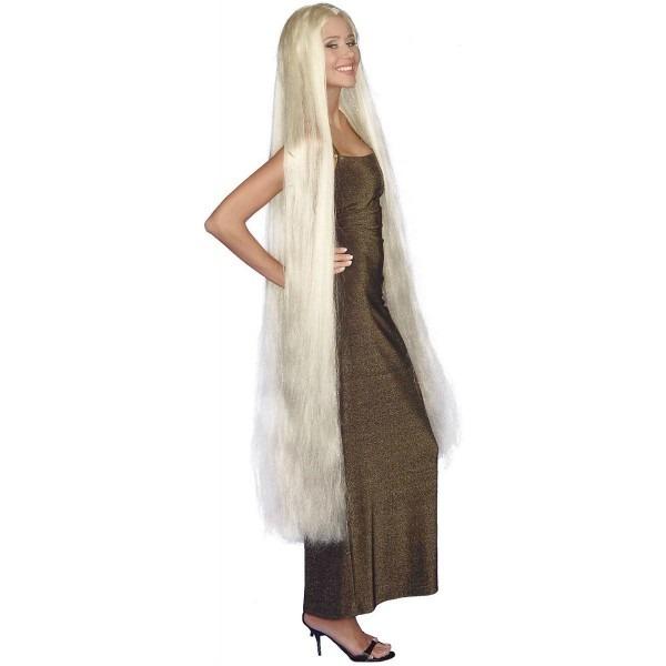 60  Blonde Lady Godiva Wig Extra Long Halloween Women Costume