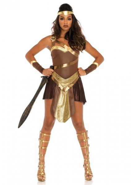 Golden Gladiator Halloween Costume