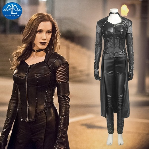 Green Arrow 5 Black Canary Costume Dinah Laurel Lance Cosplay