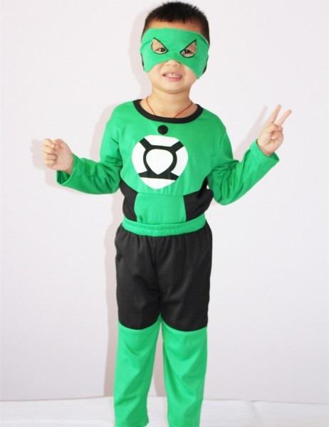 Green Lantern Costume, Halloween Costume For Kids, 3 7 Years Boy