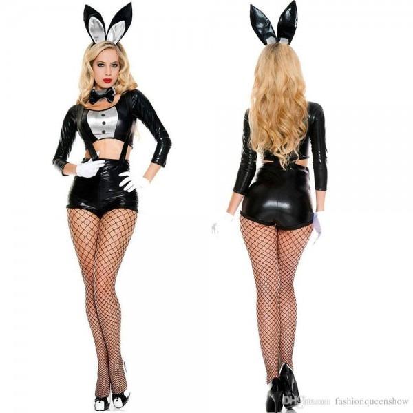 2018 Halloween Easter Bunny Girl Costume Women Rabbit Cosplay
