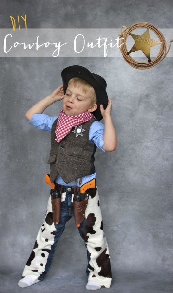 Homemade Cowboy Outfit Halloween Turkey Day Best Party Supply Designs Of