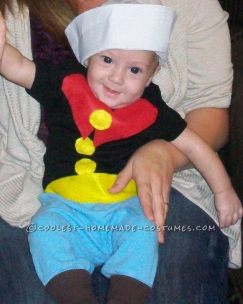 Homemade Infant Popeye The Sailor Man Costume
