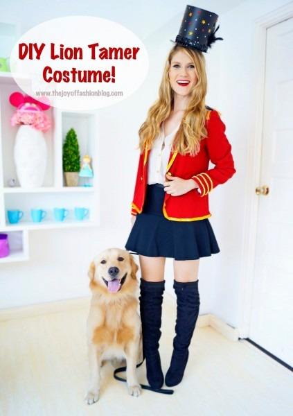 The Joy Of Fashion  {halloween}  Easy Homemade Lion Tamer Costume