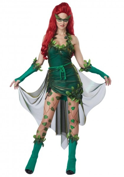 Women's Batman Poison Ivy Lethal Beauty Costume Halloween Cosplay