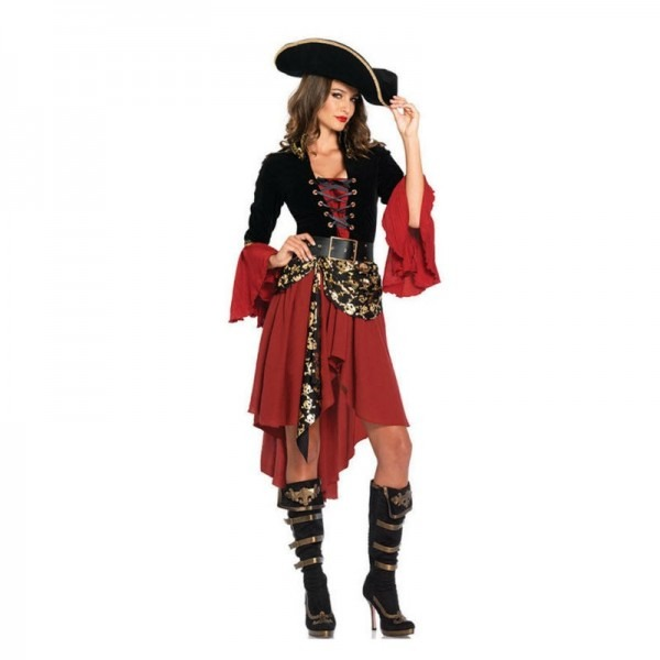 Vocole Women Sexy Caribbean Pirates Black Pearl Beauty Costume