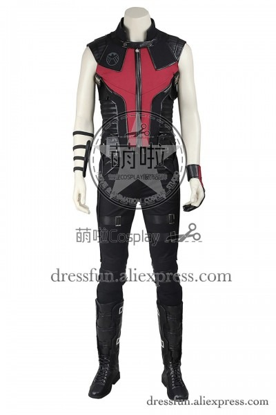 The Avengers Cosplay Costume Hawkeye Clinton Francis Barton