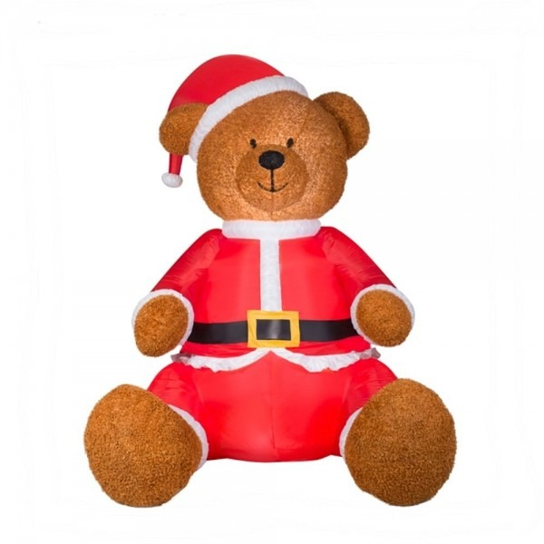 Buy Inflatable Giant Plush Teddy Bear In Santa Suit 9 Tall