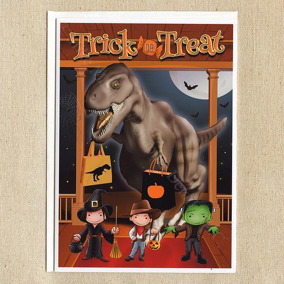 Jurassic Park Jurassic World Dinosaur Funny Halloween Card