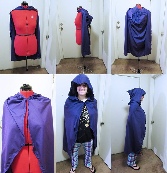 Costume  Raven Cape Cloak Teen Titans