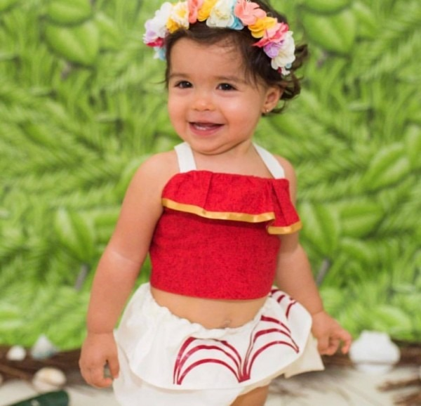 Baby Moana Costume Set For Baby Girl Or Toddler For Halloween Or