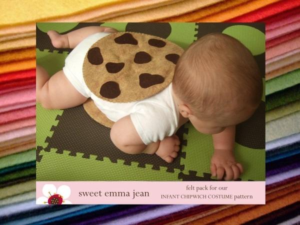 Diy Felt Chocolate Chip Cookie Chipwich Infant Halloween