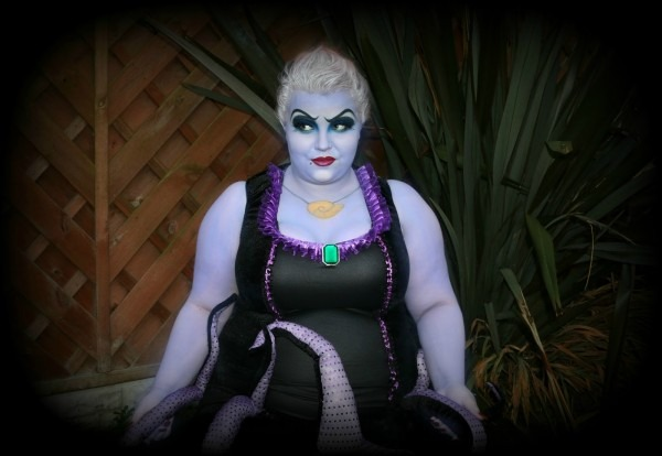 Halloween Ursula Makeup And Costume From Plus Size Lingerie