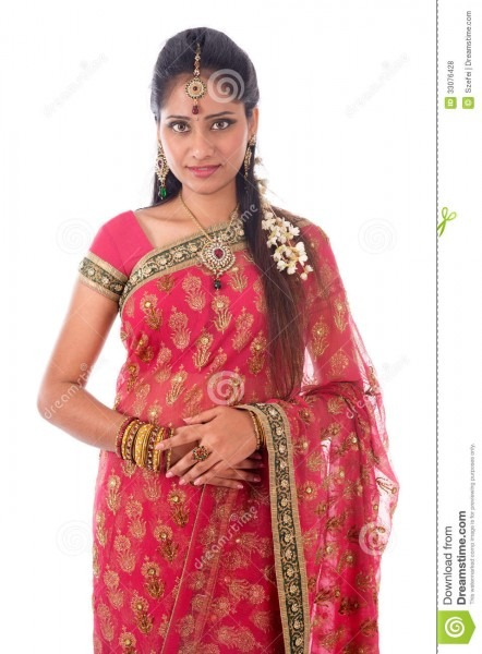 Indian Woman Portait Stock Photo  Image Of Gorgeous, Bride