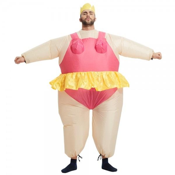 Inflatable Ballerina Dancer Costume Adult Polyester Halloween
