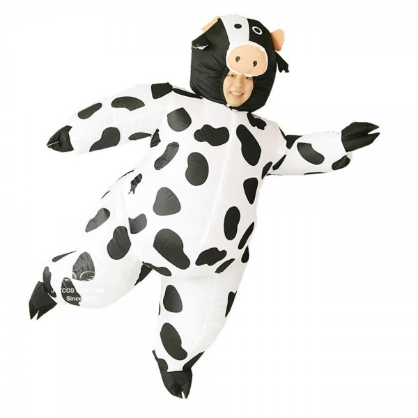 Inflatable Cow Costume For Adult Women Men Kid Boy Girl Halloween