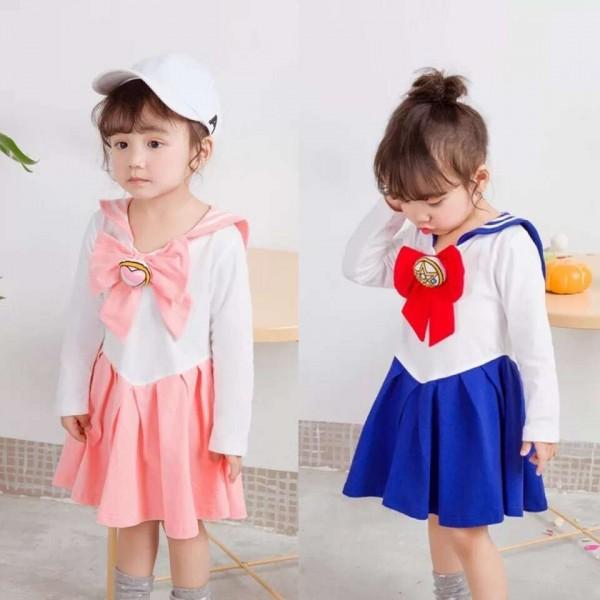 Japanese Anime Cosplay Costume Kids Girls Halloween Dress Sailor