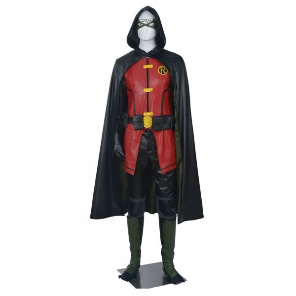 Full Set Justice League Vs Teen Titans Robin Cosplay Costume