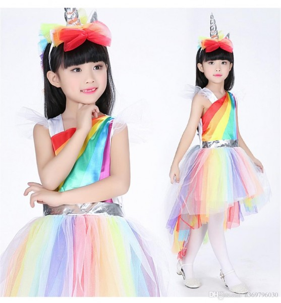 Kids Costumes Unique Girls Deluxe Rainbow Unicorn Costume Great