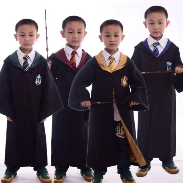 Kids Harry Potter Robe With Necktie Gryffindor Hufflepuff