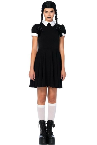 Addams Gothic Wednesday Halloween Costume For Women