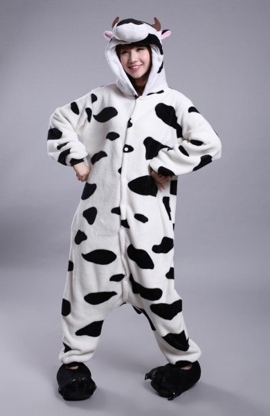 Latest Cool Zodiac Adults Cattle Cow Onesie Anime Cosplay Costumes