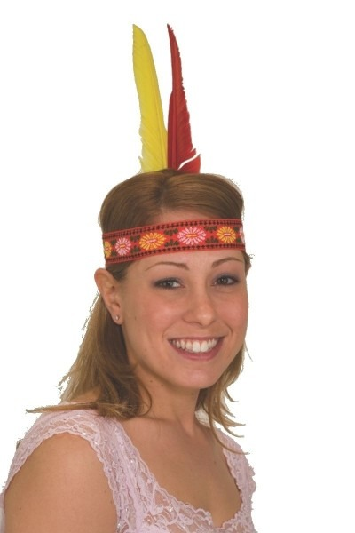 Indian Native American Feather Headband Headdress Headpiece