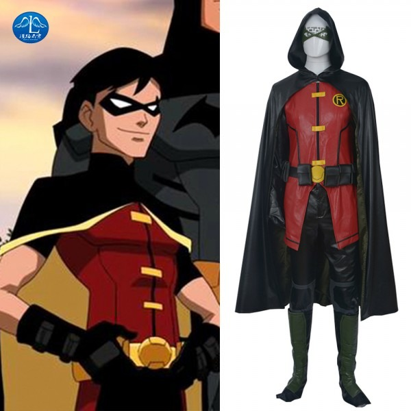 Manluyunxiao High Quality Justice League Robin Costume Adult
