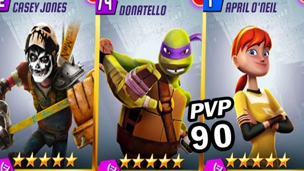 Tmnt Legends Pvp 90 (donatello Legend, Casey Jones, April O'neil