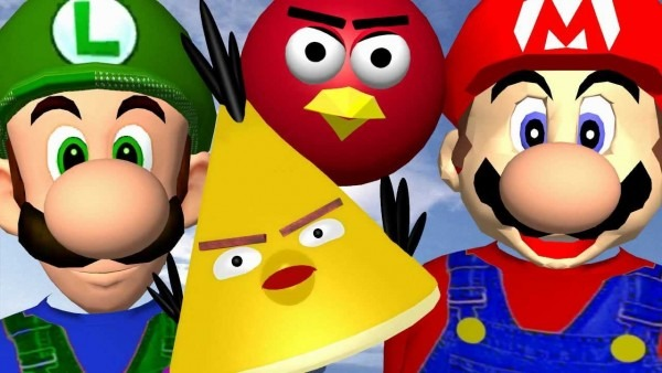 When Mario Plays Angry Birds ♫ 3d Animated Game Mashup