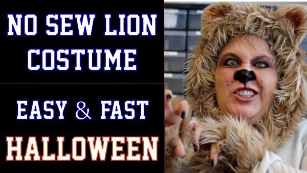 No Sew Lion Halloween Costume