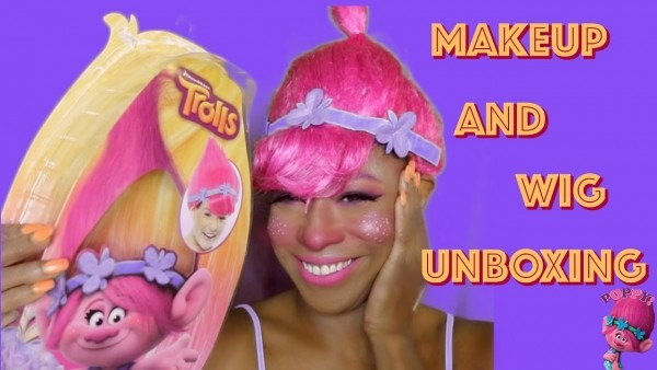 Poppy Wig Unboxing And Try On & Poppy Pink Makeup Tutorial