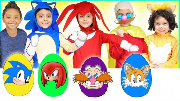 New Sonic Play Doh Surprise Eggs With Toys For Kids Tails Shadow