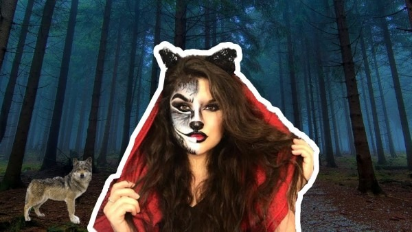 Half Little Red Riding Hood Half Wolf (halloween Look)