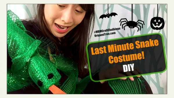 Halloween Crafts Diy Last Minute Halloween Costume (snake) Made By