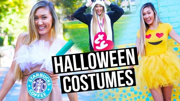 Diy Halloween Costumes For Teens  Emoji, Starbucks + Beanie Baby