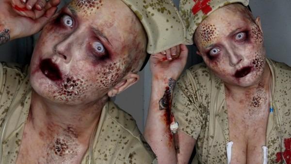 Trypophobia Zombie Nurse Halloween Costume Makeup Tutorial
